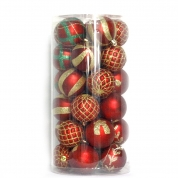 Кита Christmas decoration supplier Plastic customized Christmas ball set with PVC box for Christmas tree decoration завод