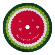 China Christmas decoration supplier red 48 inch tree skirt merry christmas for Holiday Party Tree Mat factory
