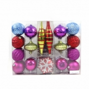 China Christmas tree decoration hanging ball with PVC box factory