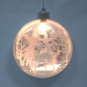China Decorative Popular Lighted Xmas Hanging Ornament factory