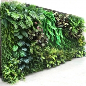 Chine Garden Home Landscape decor Plastic Artificial Plants Outdoor Green Wall usine