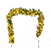 China Green Color PVC Christmas Garland with lights factory