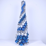 La fábrica de China Handmade Christmas Tree with christmas balls for Holiday or Home Decorations