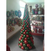 China Indoor 180cm Large Artificial Christmas Ball Tree factory