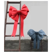Chiny Large Christmas bow for xmas tree wreath decoration Big Bows outdoor door hanging 60*75cm fabrycznie
