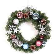 China New Design Artificial Christmas wreath Decorations factory