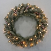 China New design promotional PVC artificial christmas wreath/garland factory
