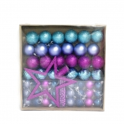 China New style hot selling plastic christmas ball set factory