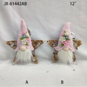 China Pink Santa Xmas Tree Hanging Ornament Decoration Home Table Gift ornaments faceless doll factory