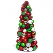 La fábrica de China Plated colorful Plastic Ball Christmas tree wraped Tinsel