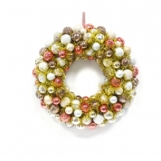 China Popular Salable Plastic Xmas Ball wreath fábrica