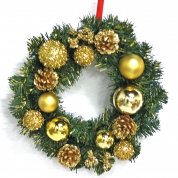 China Popular Top Quality Christmas Decorative Wreath factory