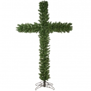 China Pre Lit Christmas Cross Tree with LED Lights factory