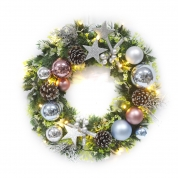 China Superior Quality Christmas Wreath With Ornaments fabriek