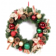 中国Talking lighted outdoor personalized christmas wreaths工厂