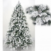 China Árvore de Floked nevando PVC Artificial Natal decorativo por atacado fábrica