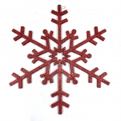 Chiny Xmas decoration supplier plastic hanging ornaments 40 inch red christmas snowflake glitter fabrycznie