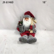 China Xmas tree ornaments gift decorative toys soft plush christemas doll santa claus factory
