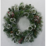 China wholesale christmas door wreath decorations factory