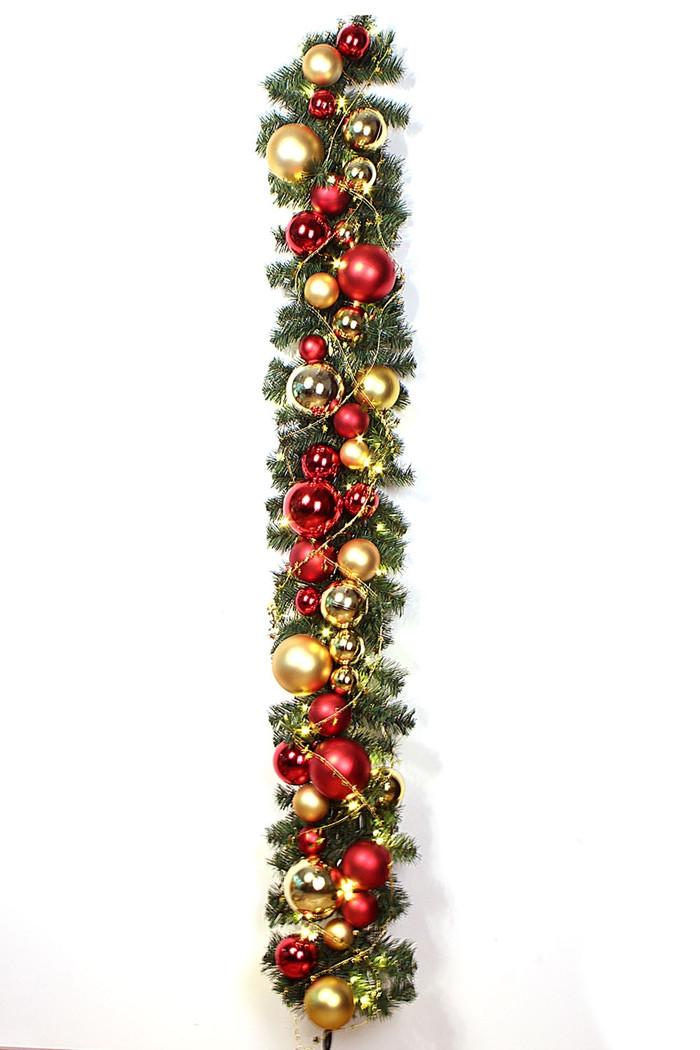 Batteriebetriebene Weihnachtsgirlande, 170cm Weihnachtsgirlande ...