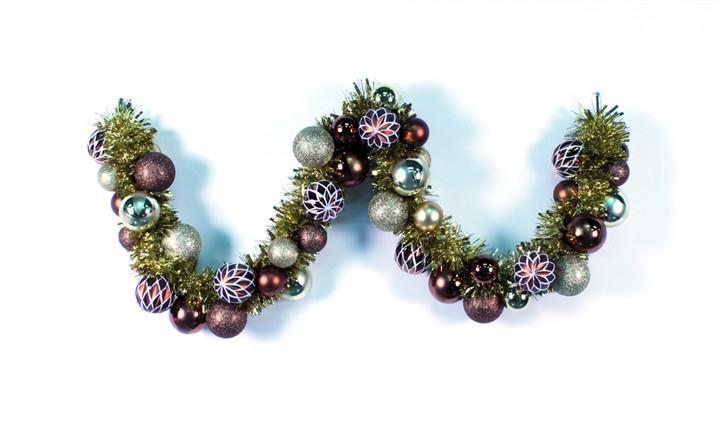 Christmas Tinsel Garland, Christmas Garland, Tinsel