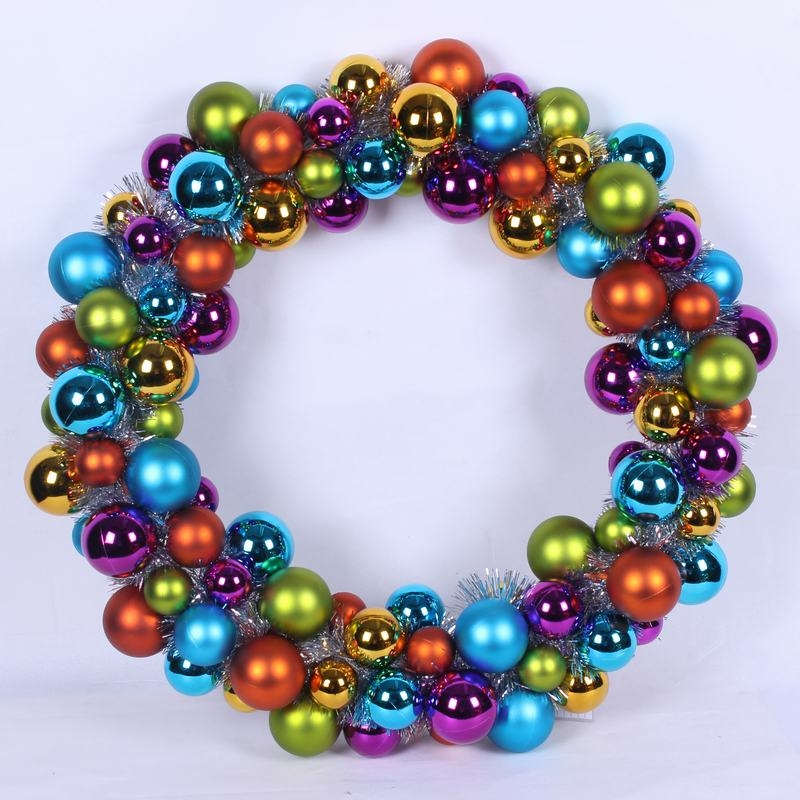 24inch Colorful Special Christmas Ball Wreath
