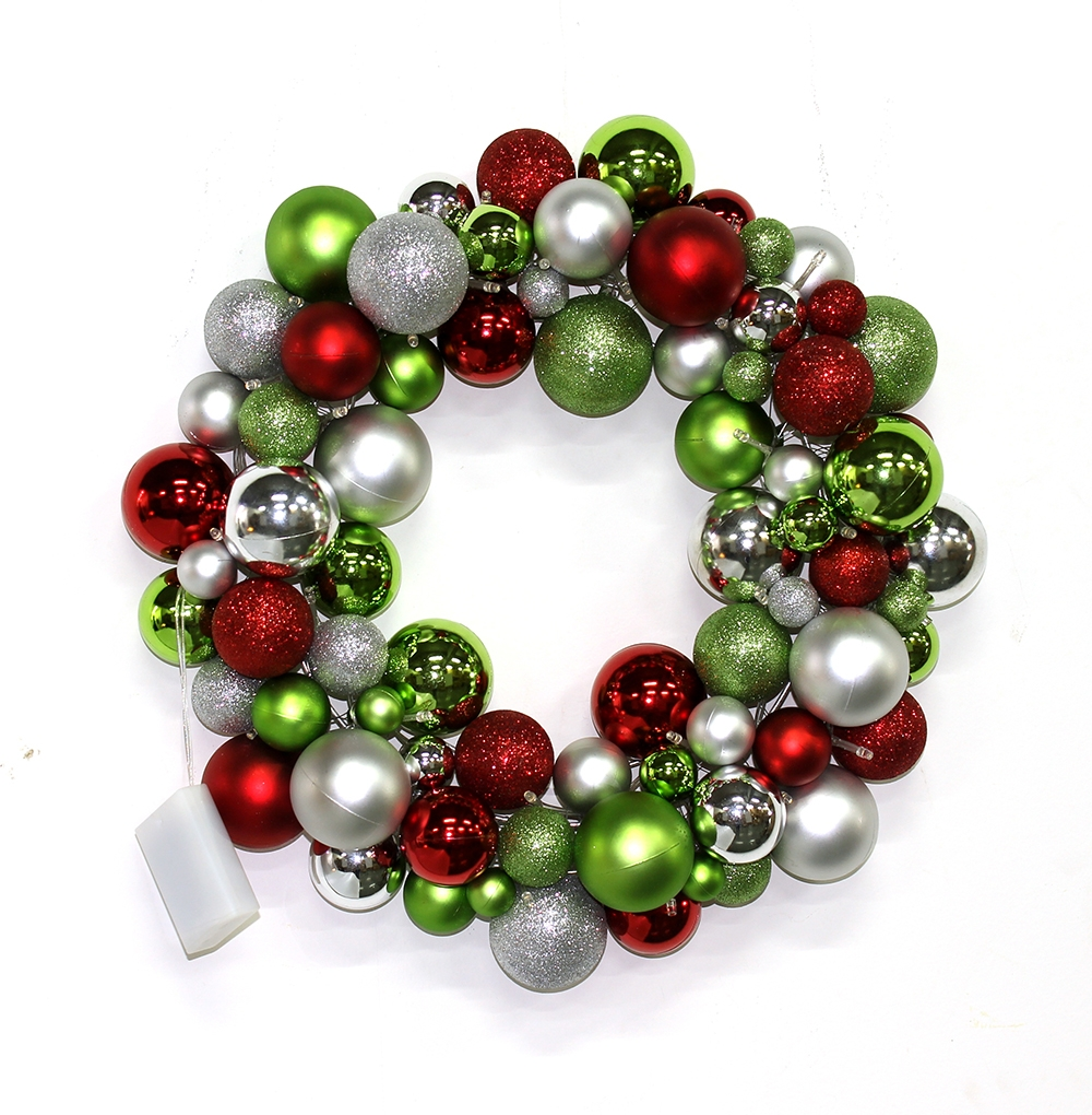 Christmas ball wreath christmas decoration supplier for Decoration porte d entree noel