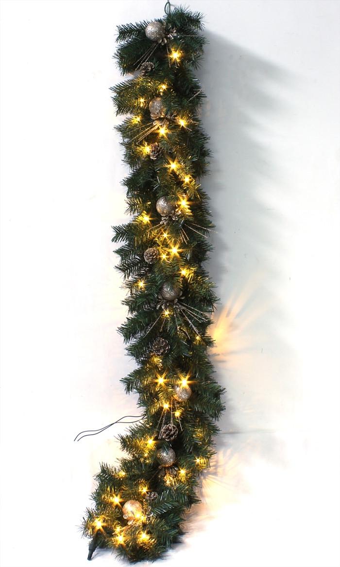 Christmas Lighted Garland Pvc Christmas Garland