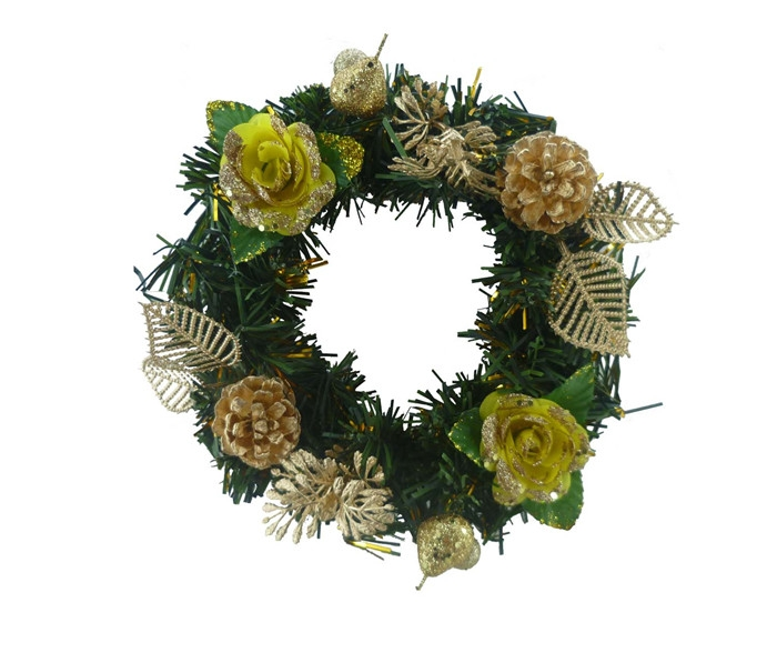"8"" Mini artificial christmas wreaths ..."