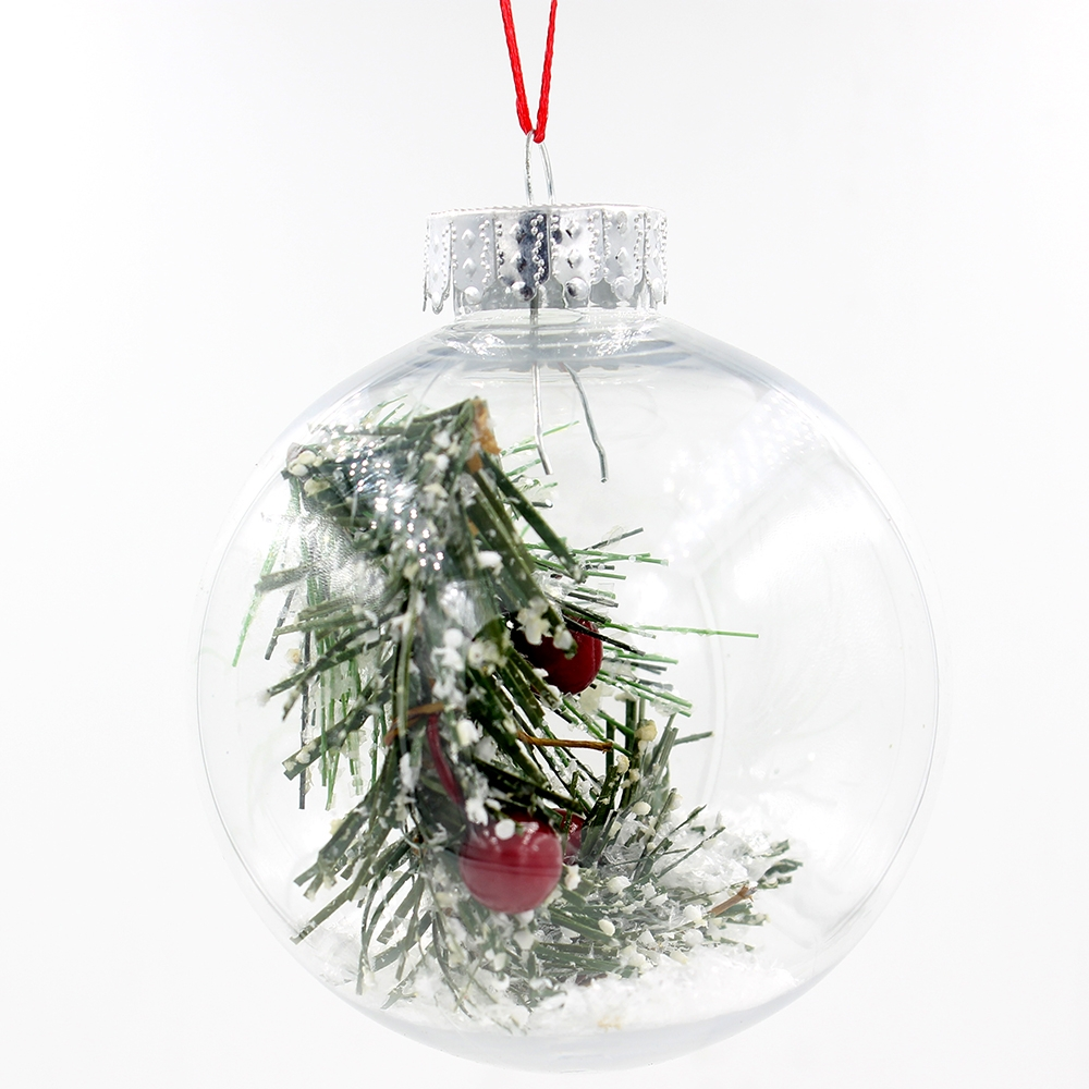 Clear Transparent Plastic Ball Christmas Ornaments