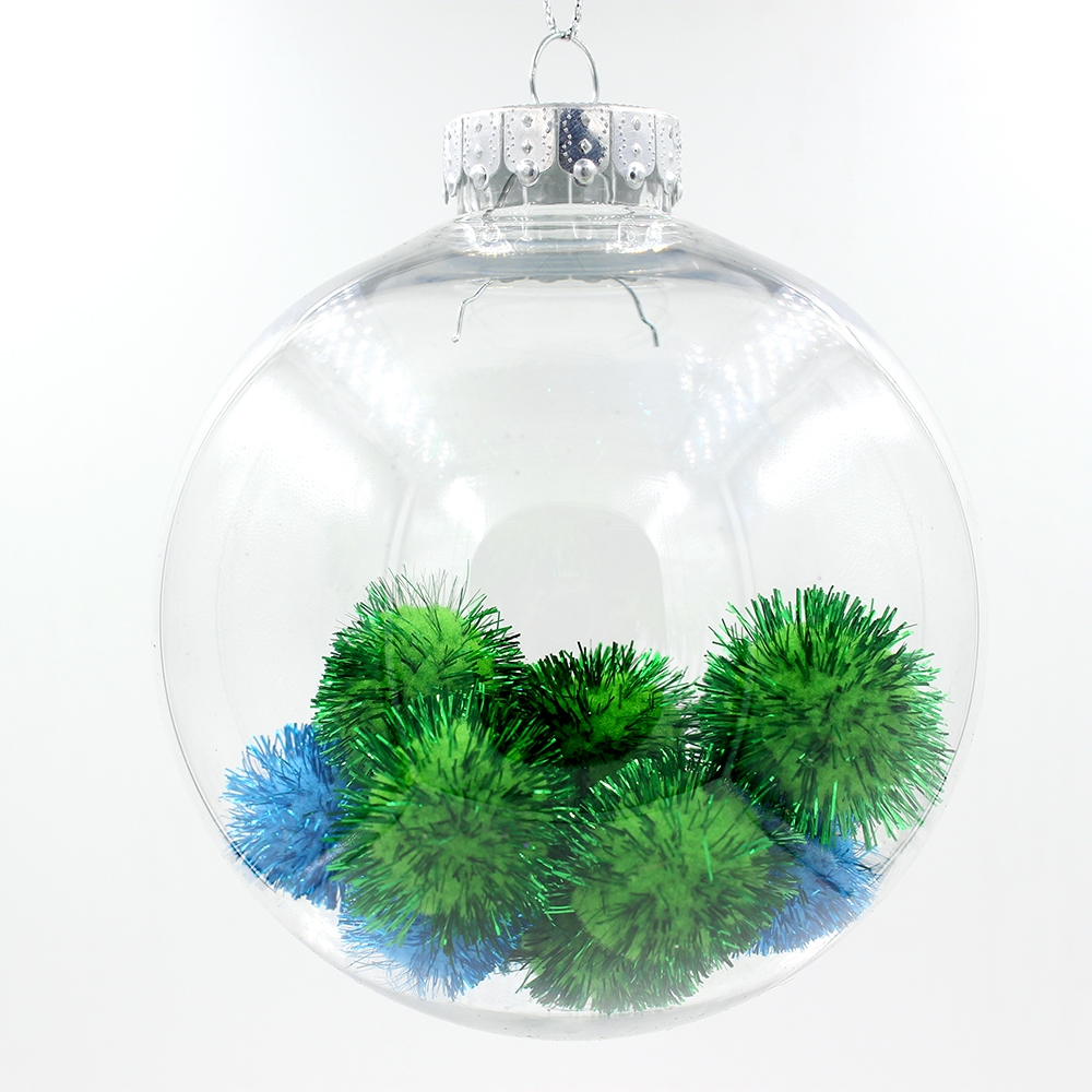 Clear transparent plastic ball christmas ornaments for Acrylic decoration