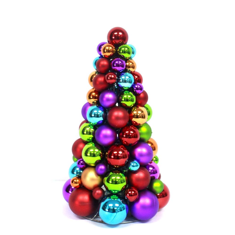 Colorful Christmas Decoration Ornaments Cone Tree