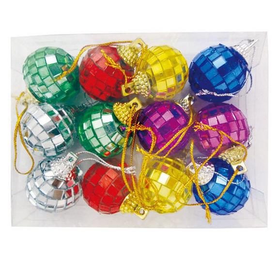 colorful high quality christmas mirror ball - Plastic Christmas Balls