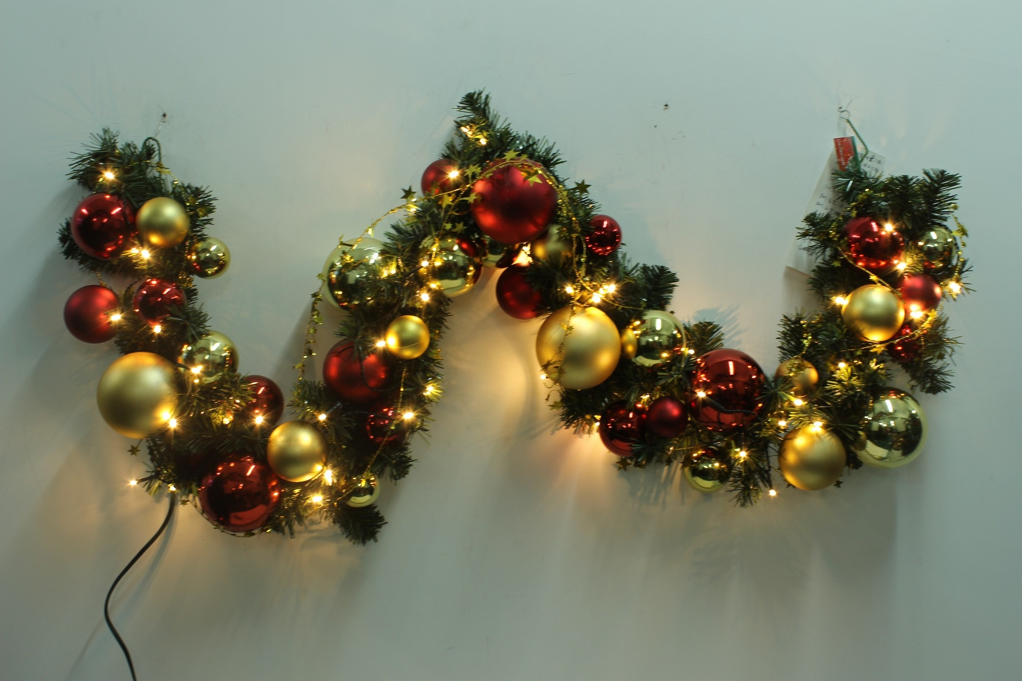 Christmas Garland With Lights