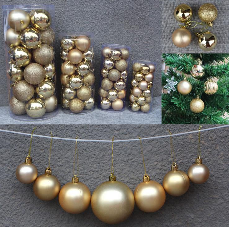 decorative shatterproof hanging christmas ball - Plastic Christmas Balls