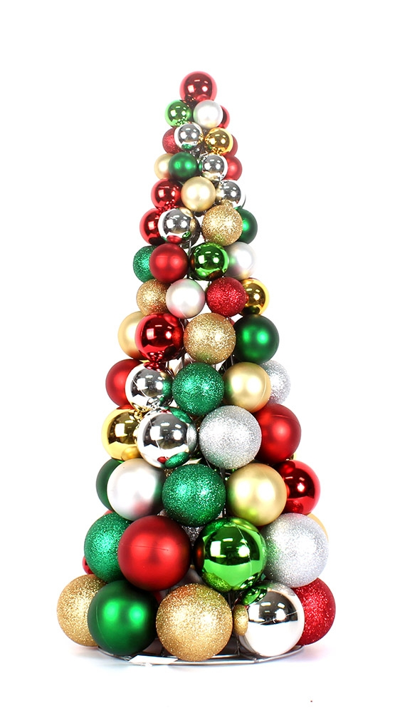 Make 24 Quot Decorative Christmas Ball Tree Christmas