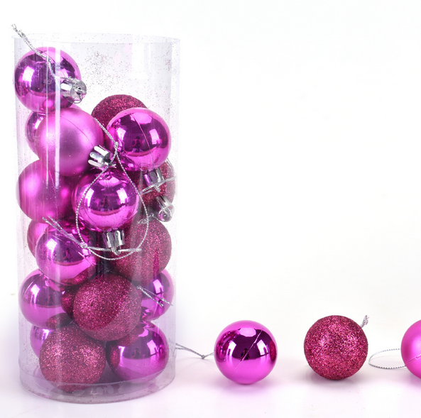 wholesale good quality plastic xmas bauble