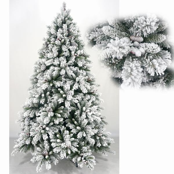 Wholesale decorative floked snowing pvc artificial